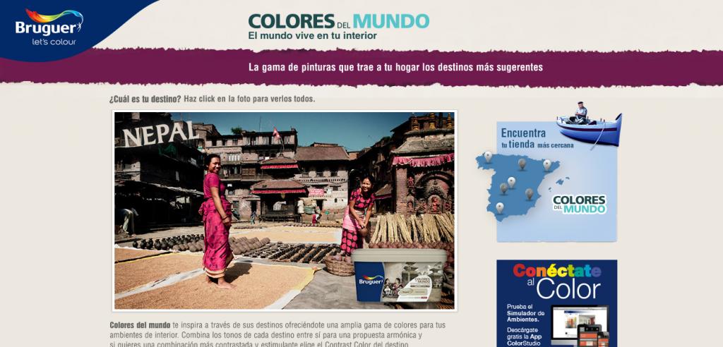 Colores del mundo web