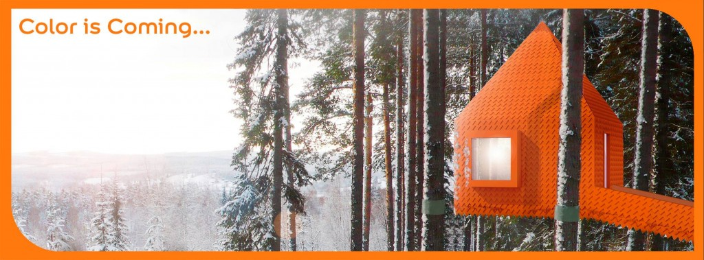 Caseta en la nieve