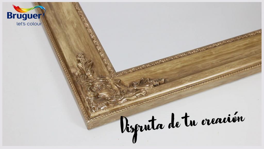 DIY: Cómo envejecer un marco con espejo