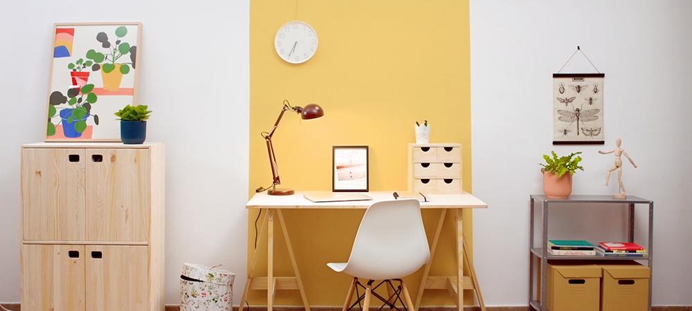 Crea tu propia área de trabajo en casa